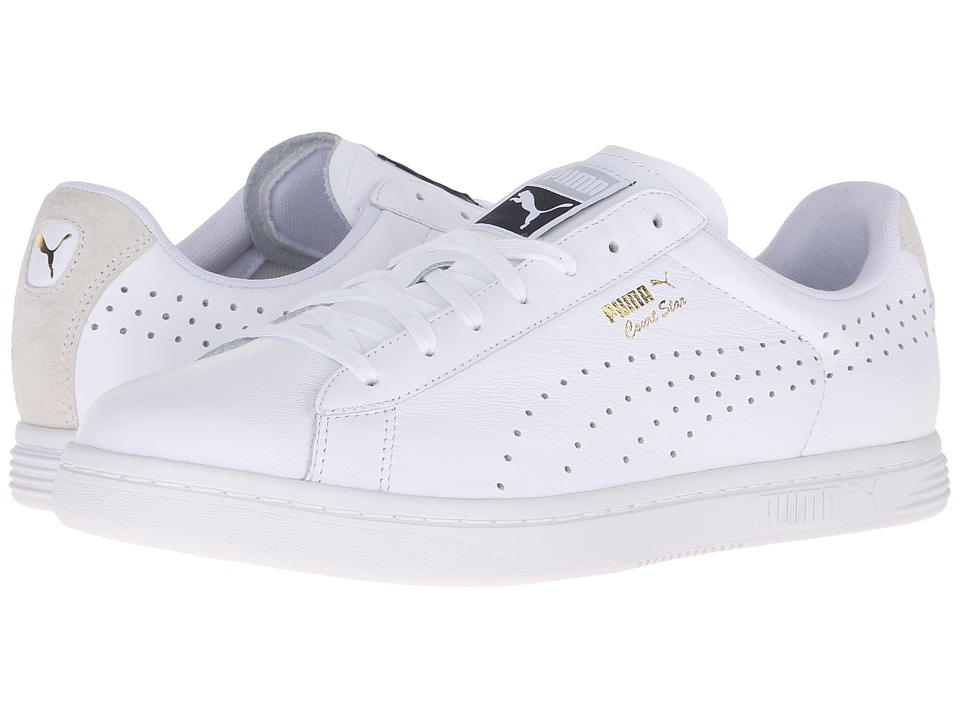 PUMA - Court Star Crafted (Puma White/Puma White) Men's Tennis Shoes