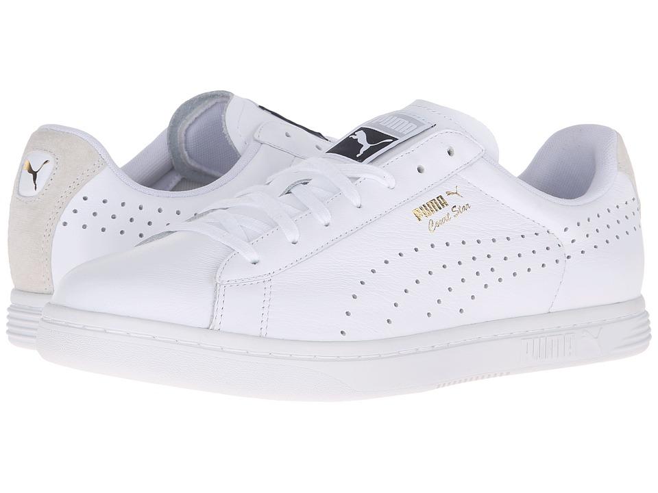 PUMA - Court Star Crafted (Puma White/Puma White) Men's Tennis Shoes