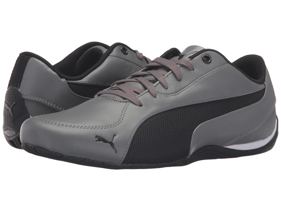PUMA - Drift Cat 5 Leather (Steel Gray/Puma Black) Men's Shoes