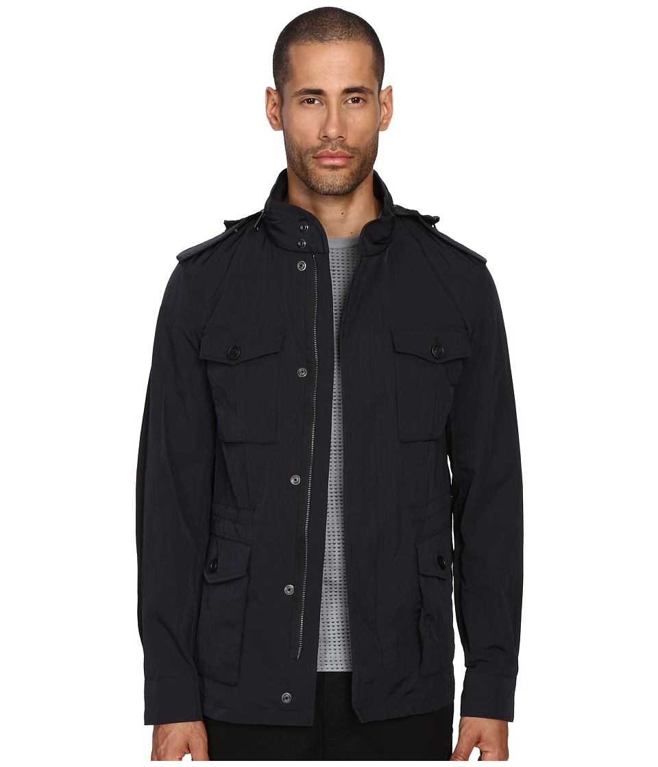 Armani Jeans - Four-Pocket Coat (Blue) Men's Coat