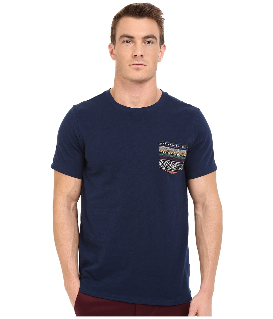 Threads 4 Thought - Baja Jaquard Pocket Tee (Dark Berry) Men's T Shirt