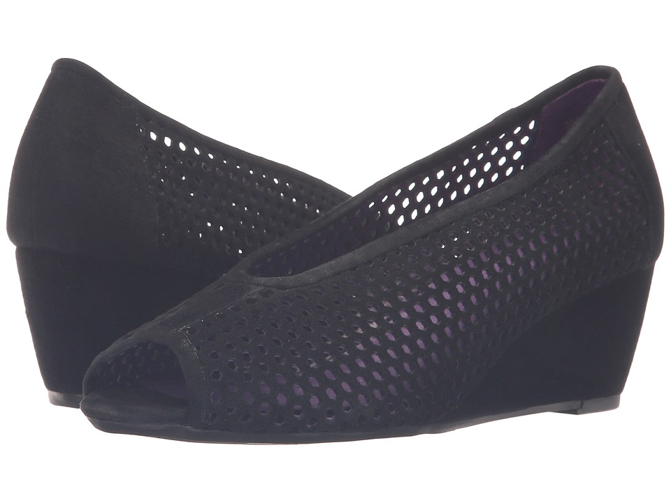 Vaneli - Warp (Black Suede) Women's Wedge Shoes