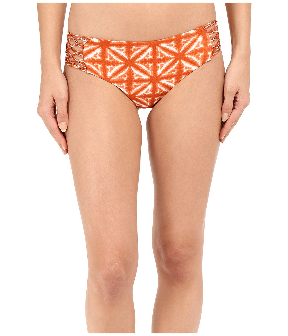 Amuse Society - Ana Tie-Dye Boycut Bottom (Brandy) Women's Swimwear