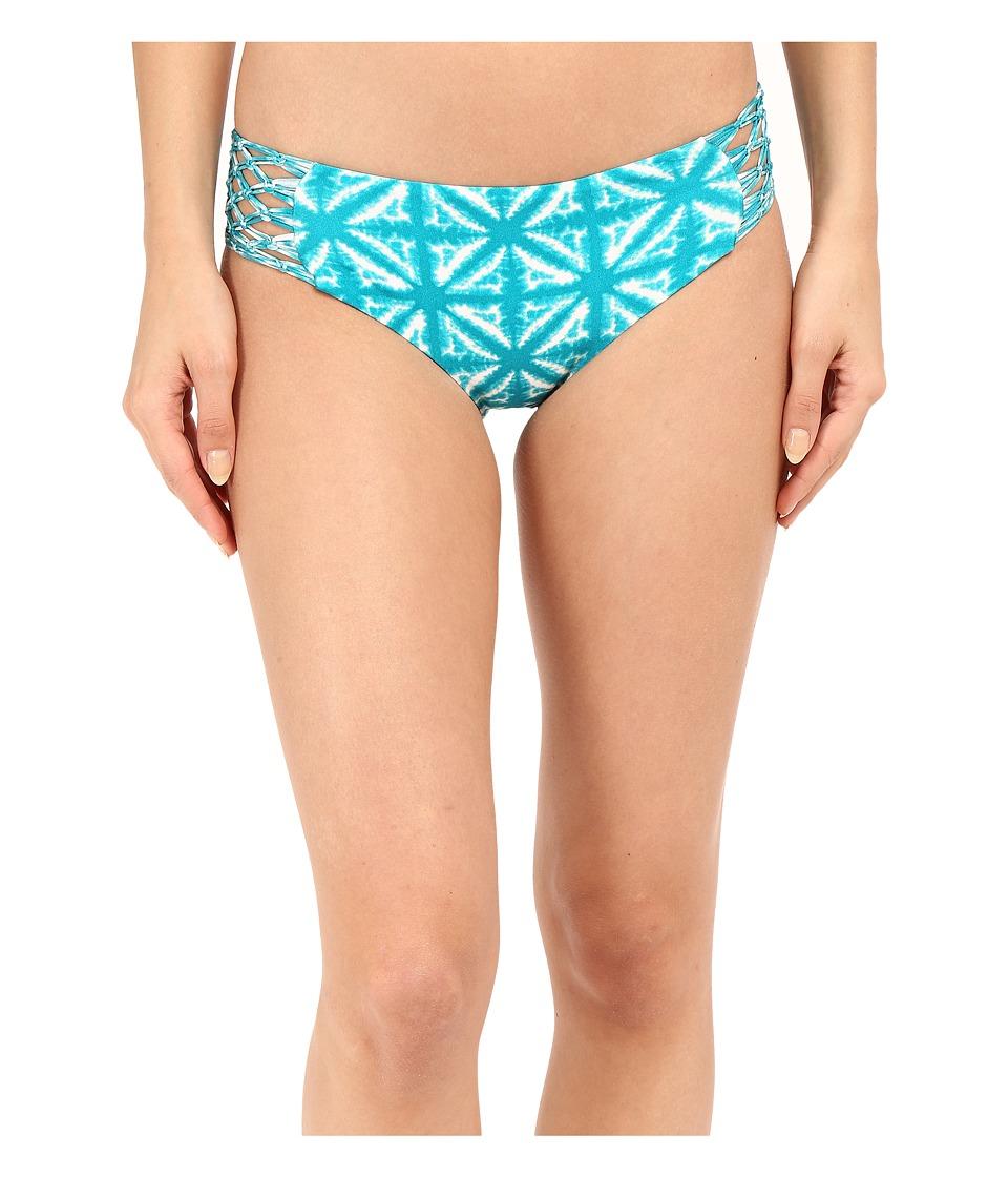 Amuse Society - Ana Tie-Dye Boycut Bottom (Turquiose) Women's Swimwear