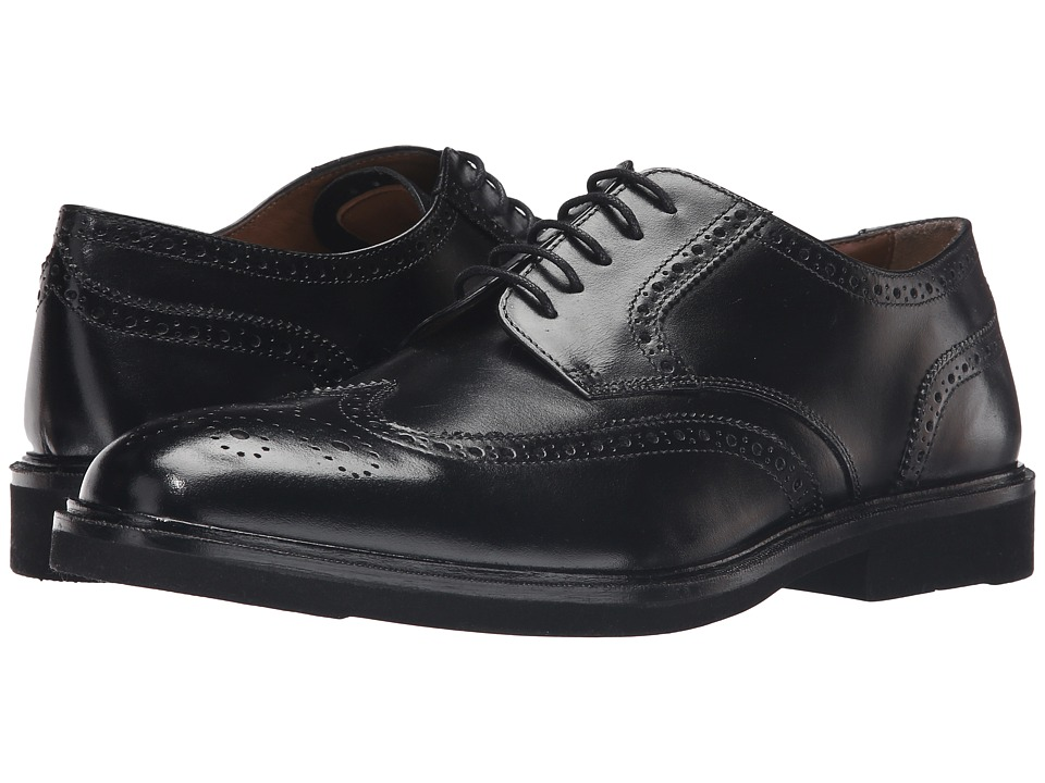 Florsheim - Hamilton Wingtip Oxford (Black Smooth) Men's Lace Up Wing Tip Shoes