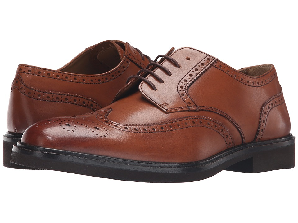 Florsheim Hamilton Wingtip Oxford (Cognac Smooth) Men