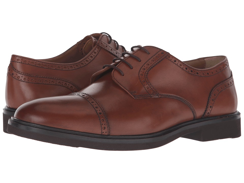 Florsheim - Hamilton Cap Toe Oxford (Cognac Smooth) Men's Lace Up Cap Toe Shoes