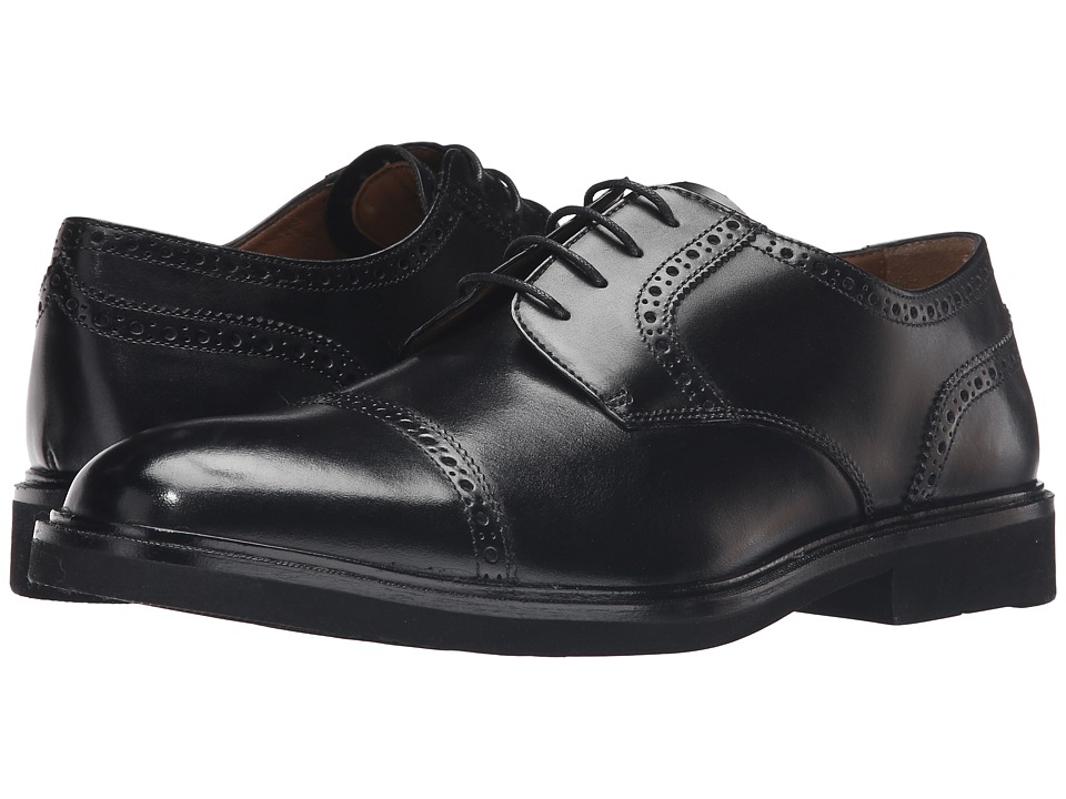 Florsheim - Hamilton Cap Toe Oxford (Black Smooth) Men's Lace Up Cap Toe Shoes