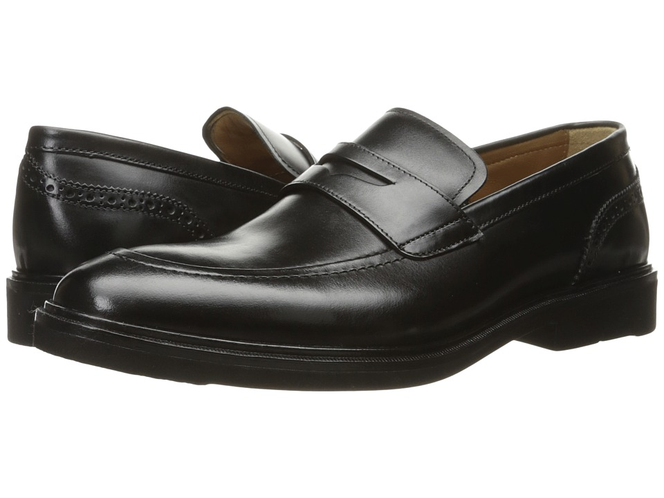 Florsheim Hamilton Penny Slip-On (Black Smooth) Men's Slip on Shoes