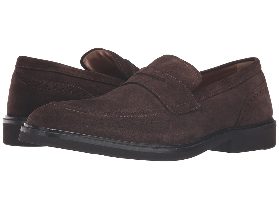 Florsheim - Hamilton Penny Slip-On (Brown Suede) Men's Slip on Shoes