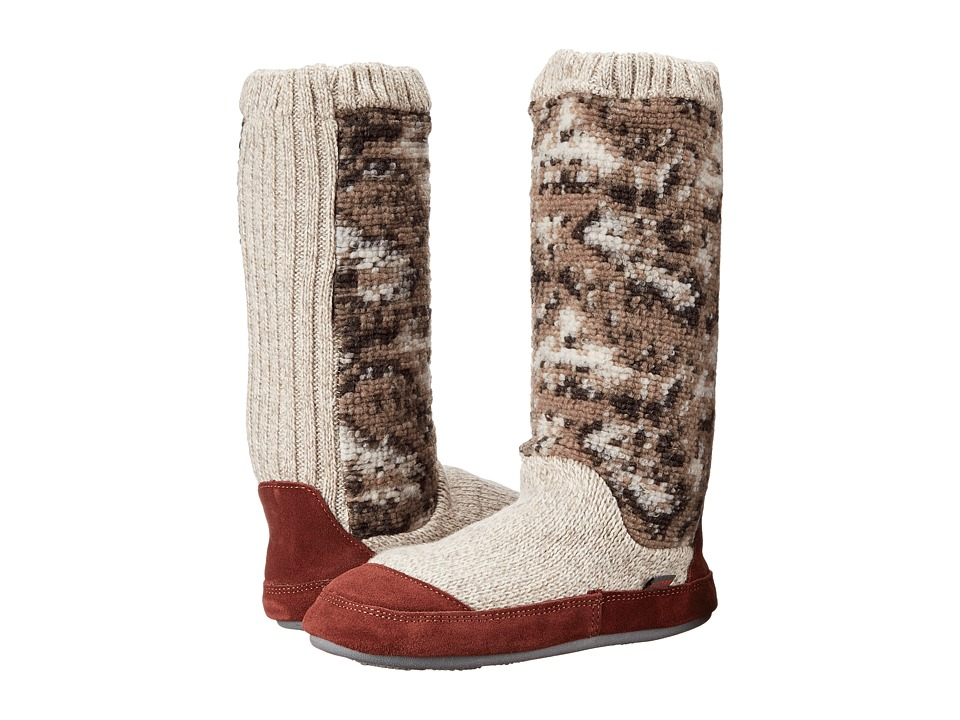 Acorn - Slouch Boot (Tribal Tan Knit) Women's Slippers