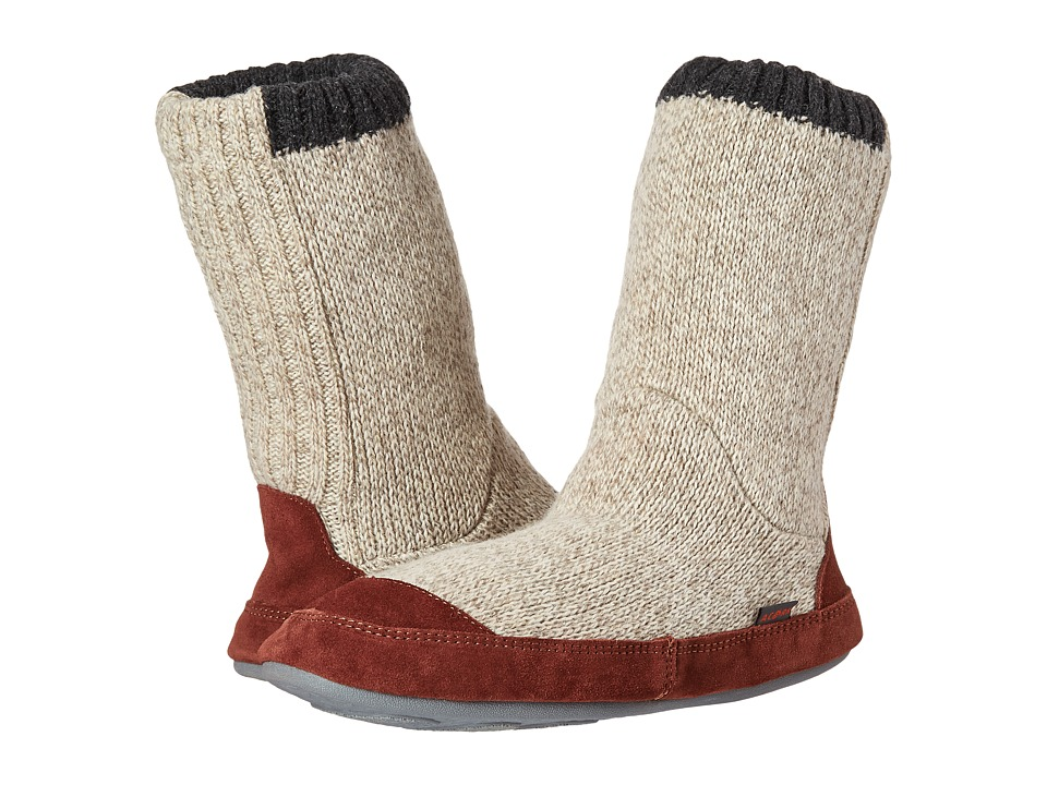 Acorn - Slouch Boot (Grey Ragg Wool) Men's Slippers