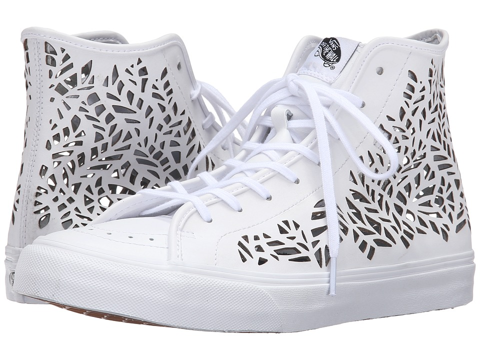 Vans - SK8-Hi Decon ((Cut Out) Leaves/White) Skate Shoes