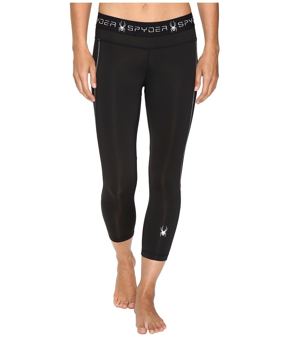 Spyder - Spy-Dher Capri Tights (Black) Women's Workout