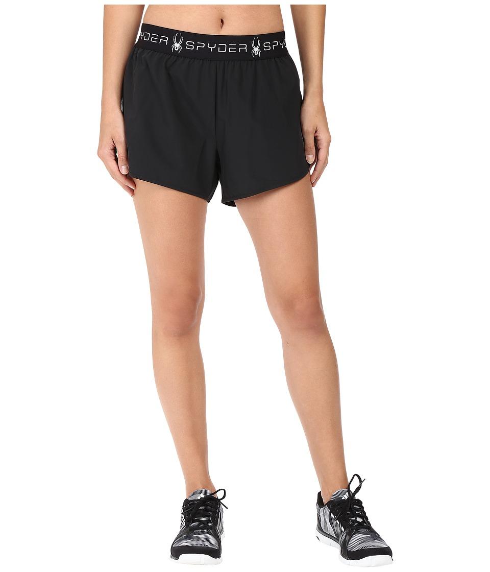 Spyder - Ruling 2-In-1 Shorts (Black) Women's Shorts