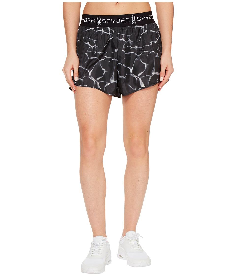 Spyder - Ruling 2-In-1 Shorts (Waves Black) Women's Shorts