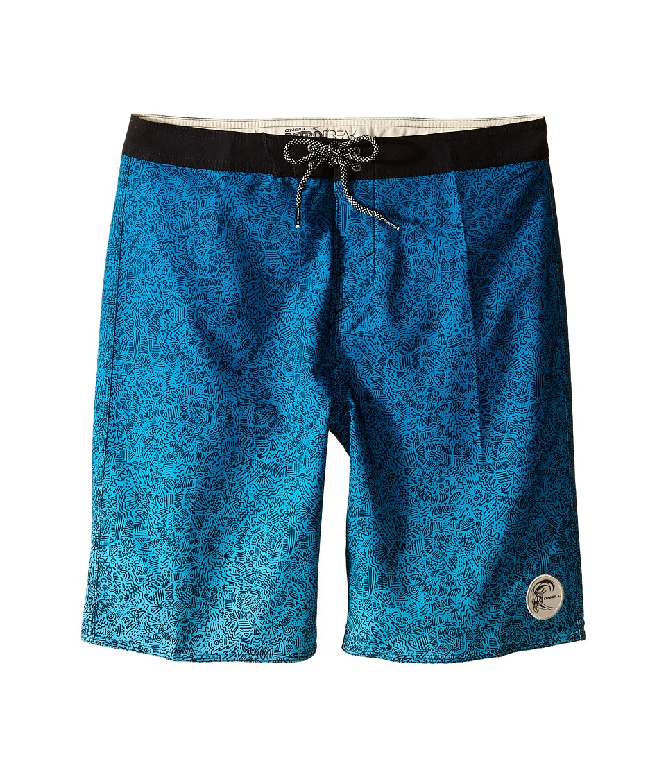 O'Neill Kids - Retrofreak Squiggle Boardshorts (Big Kids) (Aqua) Boy's Swimwear