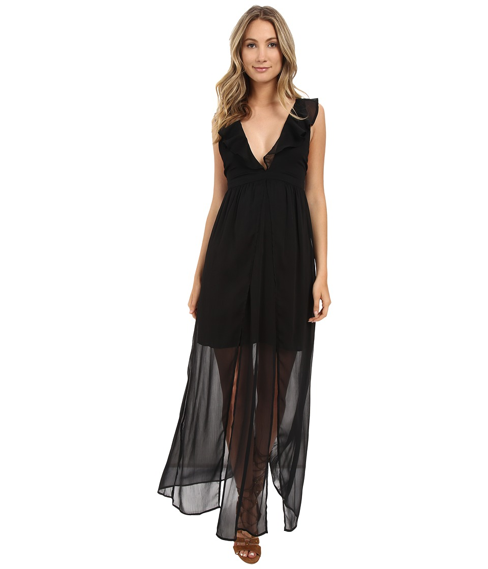 The Jetset Diaries - Tan Lines Maxi Dress (Black) Women's Dress