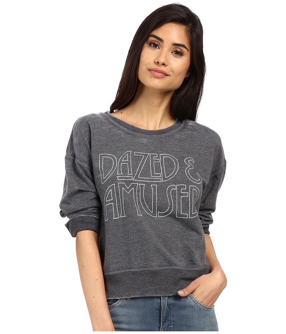 Amuse Society - Dazed Sweatshirt (Charcoal Heather) Women's Sweatshirt