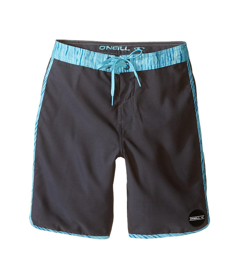 O'Neill Kids - Santa Cruz Scallop Boardshorts (Big Kids) (Asphalt) Boy's Swimwear