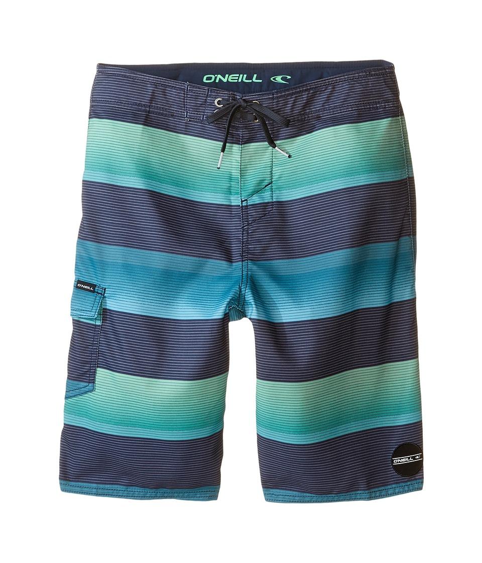 O'Neill Kids - Santa Cruz Stripe Boardshorts (Big Kids) (Aqua) Boy's Swimwear