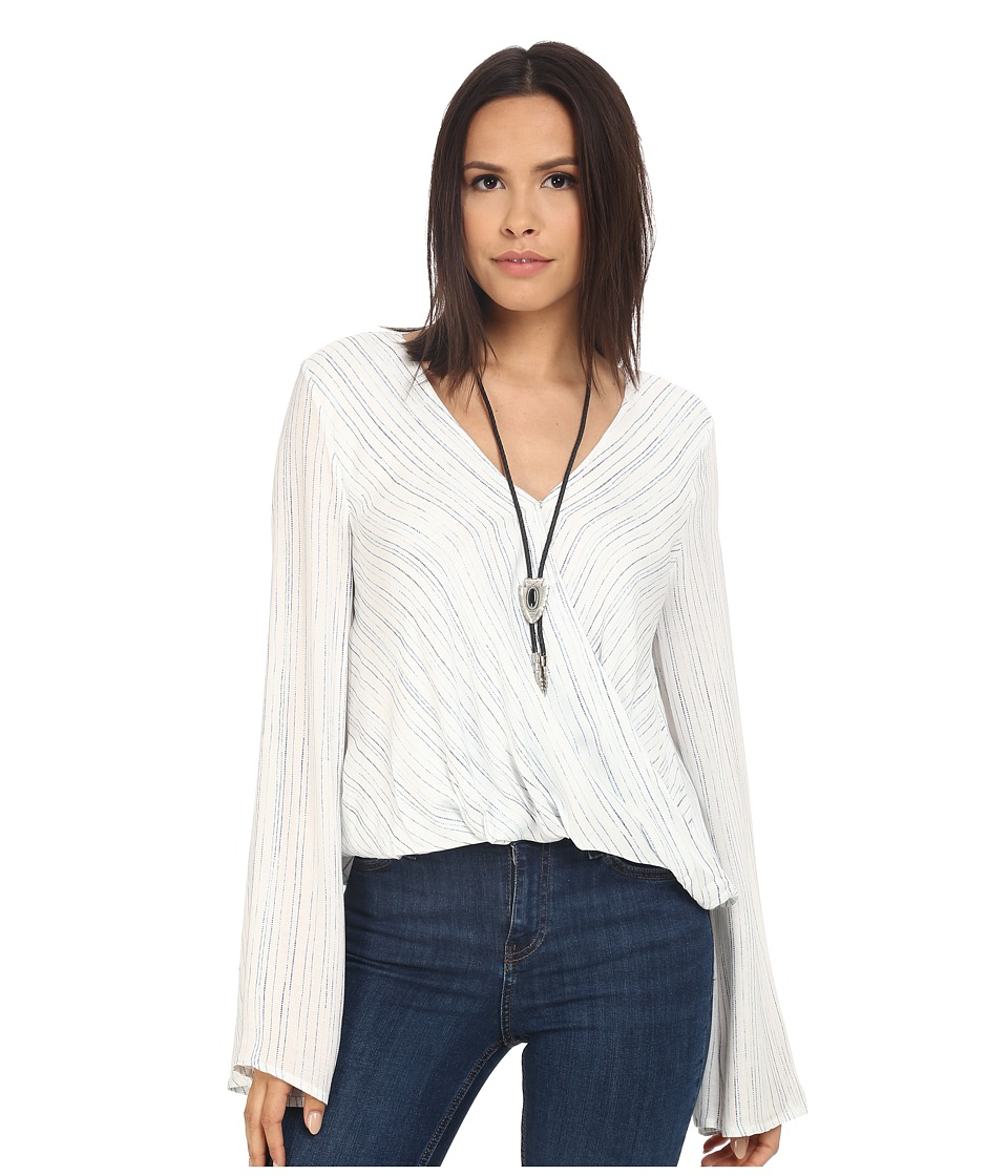 The Jetset Diaries - Mystical Wrap Top (Stripe) Women's Clothing