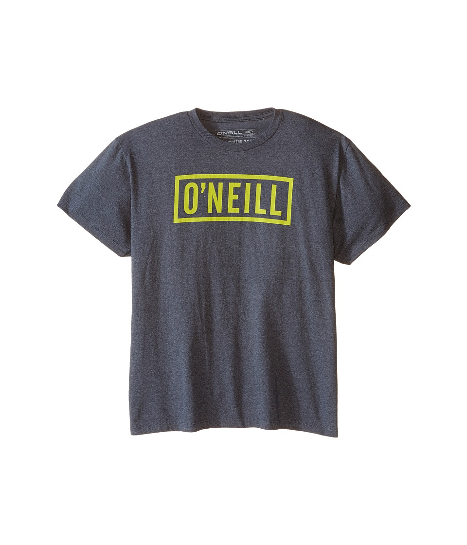 O'Neill Kids - Block T-Shirt (Big Kids) (Heather Black) Boy's T Shirt
