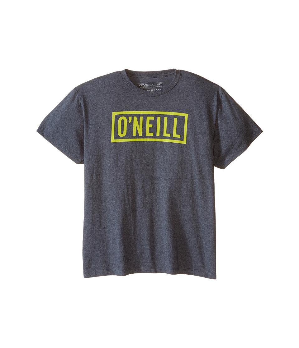 O'Neill Kids - Block T-Shirt (Big Kids) (Heather Black) Boy's T Shirt