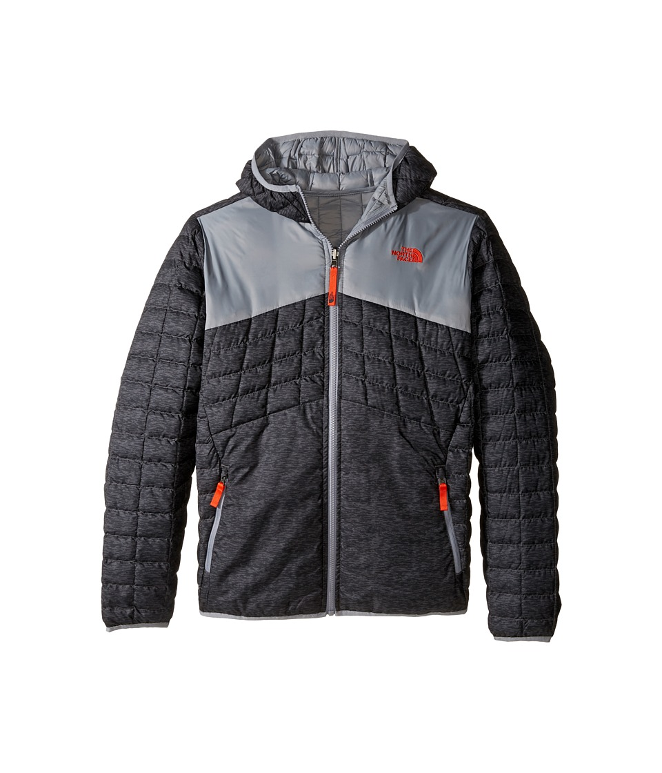 The North Face Kids - Reversible Thermoball Hoodie (Little Kids/Big Kids) (Grey Pixelated Heather) Boy's Sweatshirt