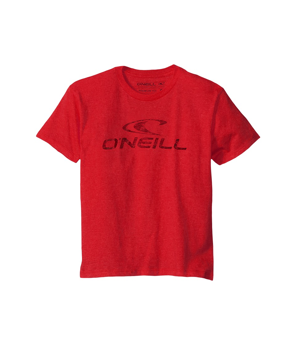 O'Neill Kids - Supreme Short Sleeve Screen Tee (Big Kids) (Red) Boy's Short Sleeve Pullover