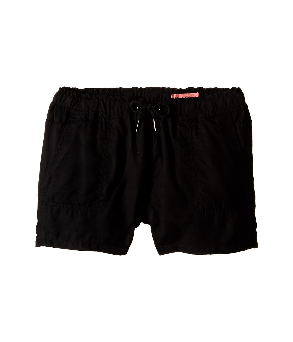 Blank NYC Kids - Linen Shorts in Near Dark (Big Kids) (Black) Girl's Shorts