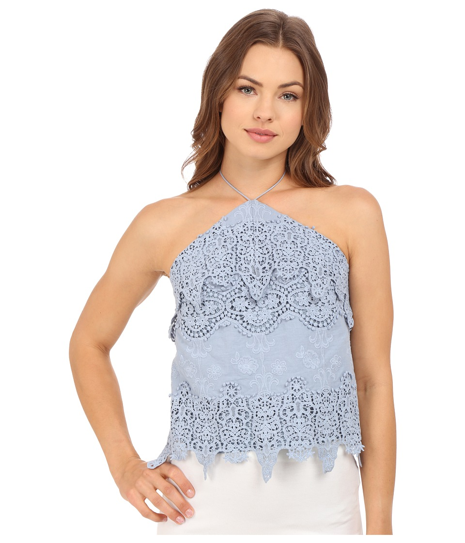 The Jetset Diaries - Cielo Top (Dusty Blue) Women's Clothing