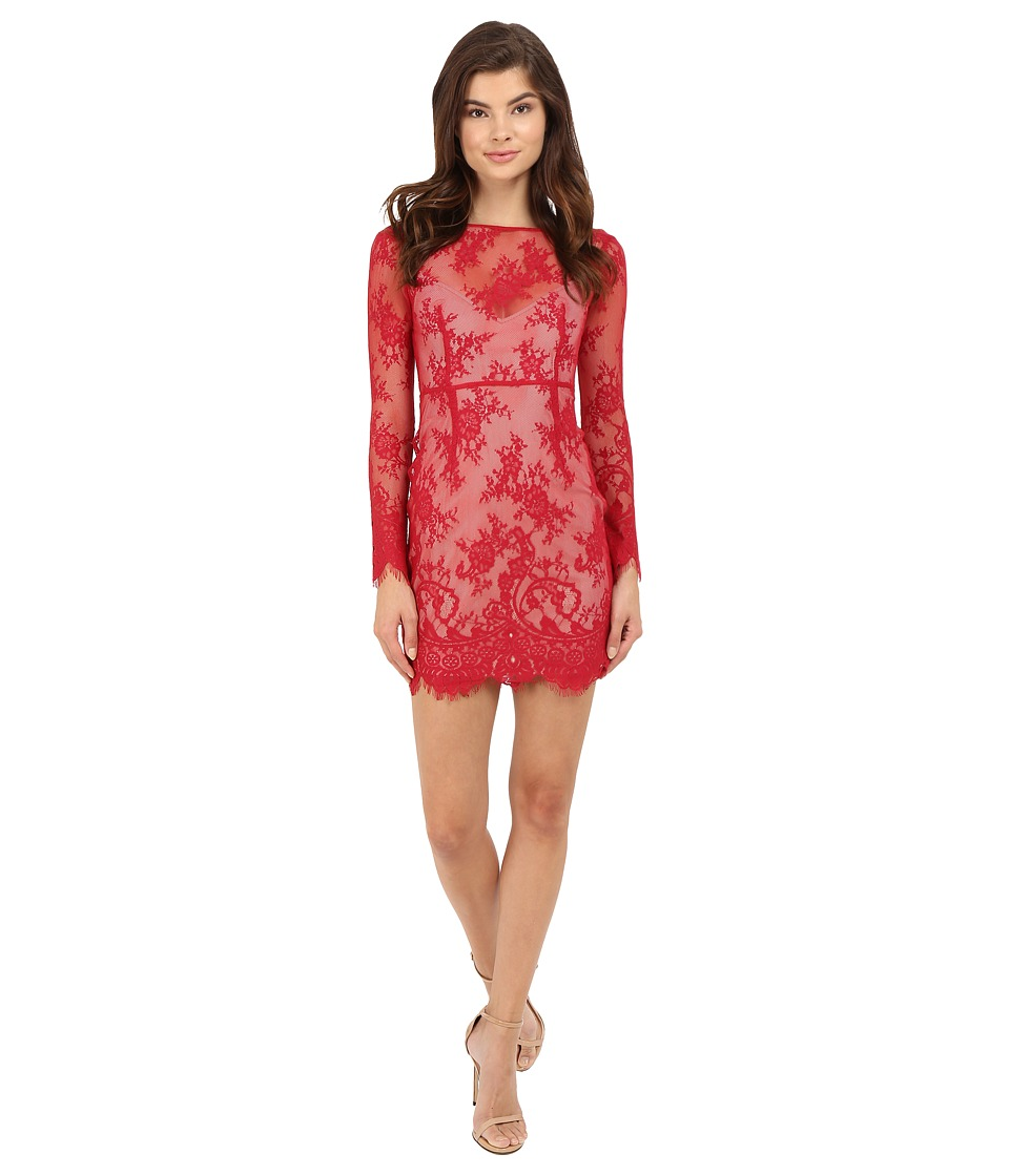 The Jetset Diaries Dulce Bodycon Dress (Crimson) Women
