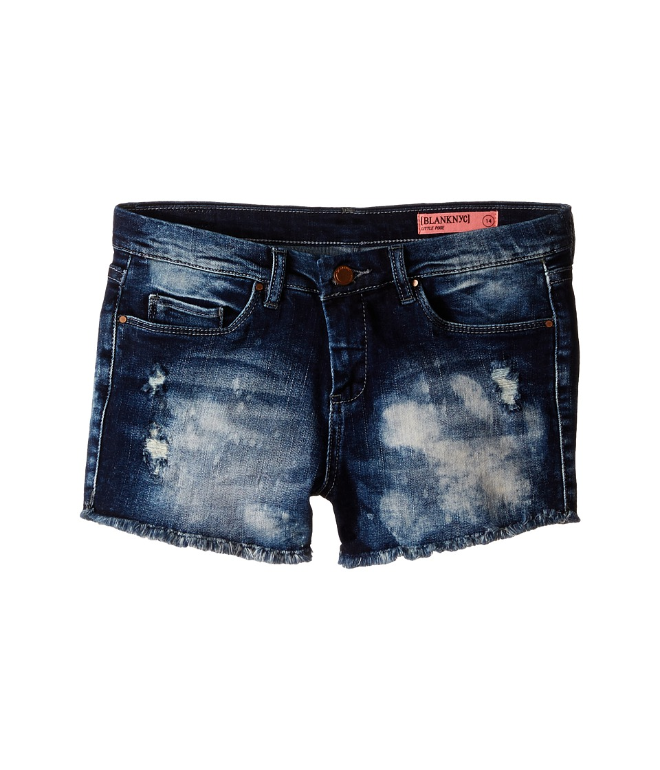Blank NYC Kids - Denim Cut Off Shorts in Rufus (Big Kids) (Blue) Girl's Shorts