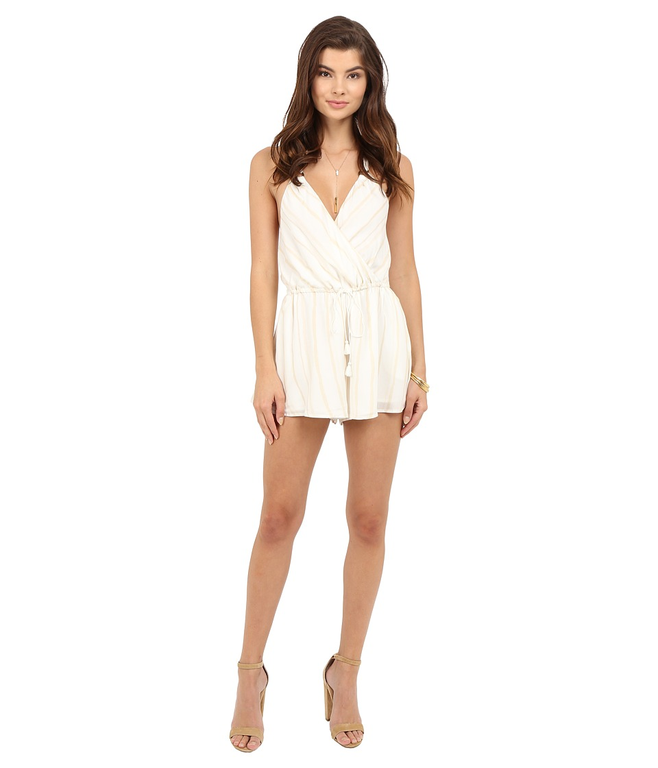 The Jetset Diaries - El Dorado Romper (Tan Stripe) Women's Jumpsuit & Rompers One Piece