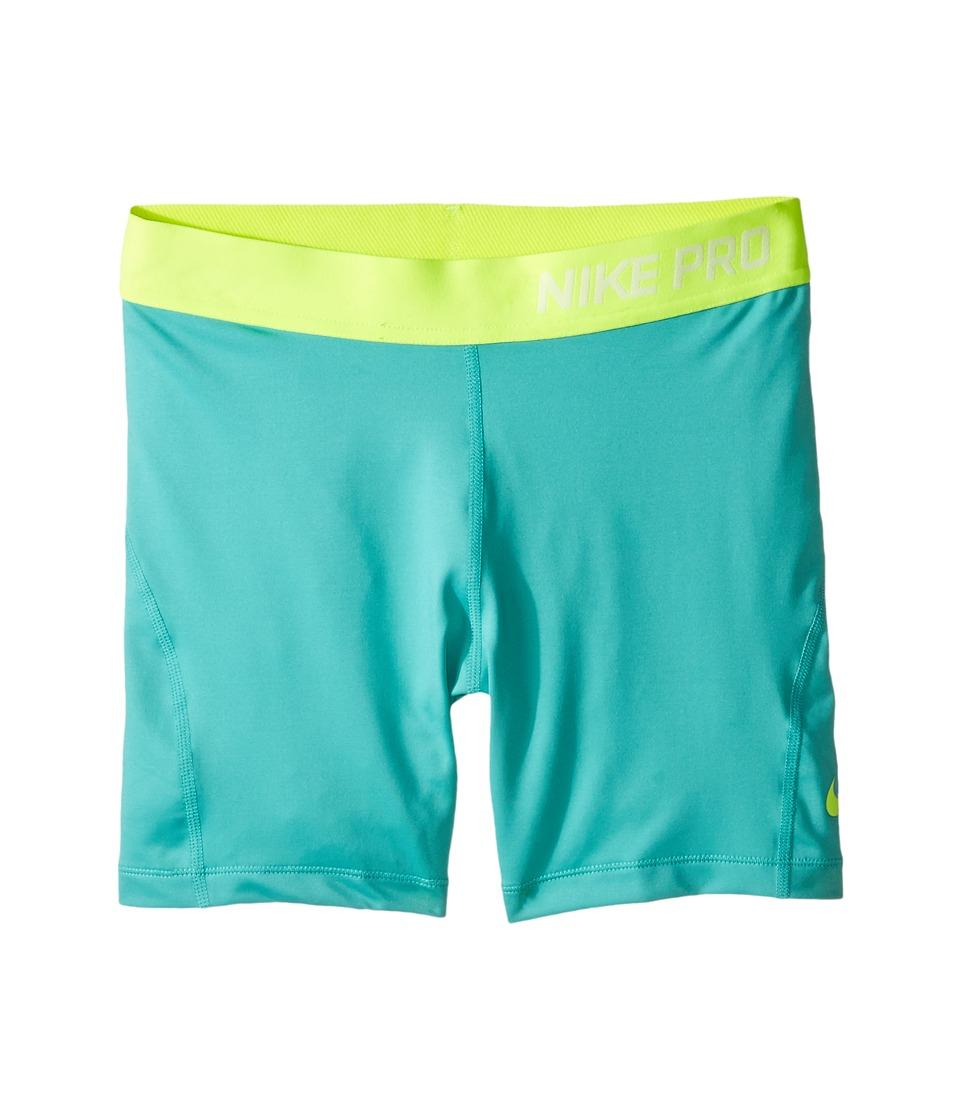 Nike Kids - Pro Cool 4 Training Short (Little Kid/Big Kid) (Hyper Jade/Volt/Volt) Girl's Shorts