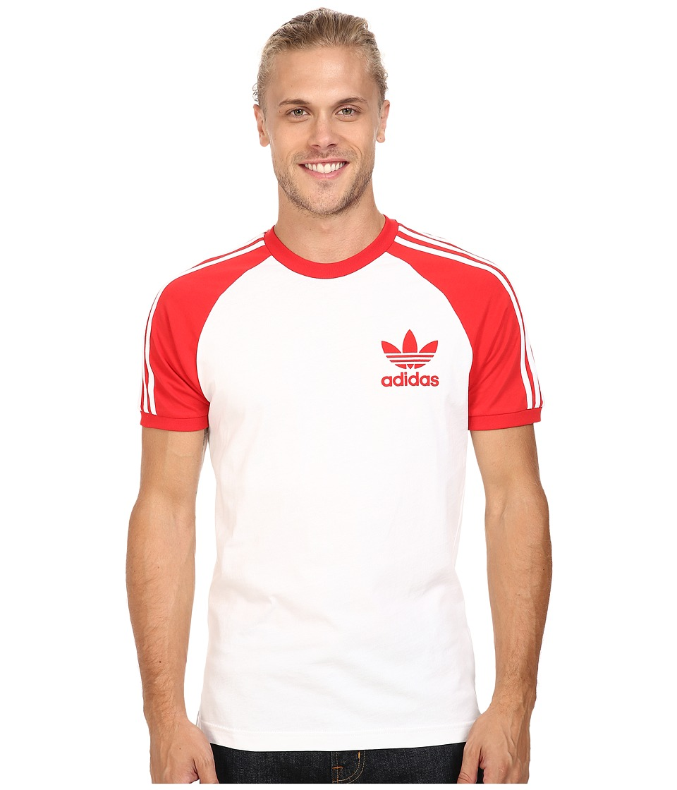 adidas Originals - California Tee (White/Vivid Red) Men's T Shirt