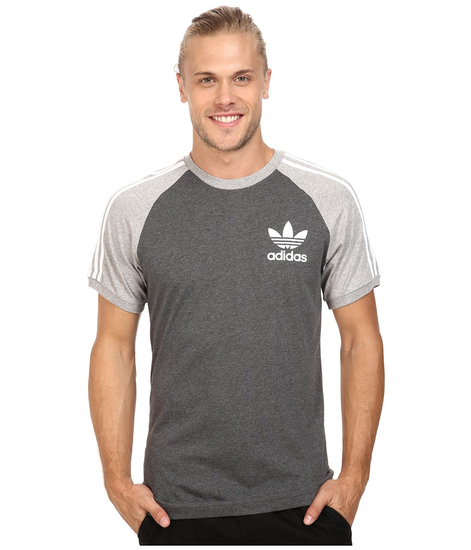 adidas Originals - California Tee (Dark Grey Heather/Medium Grey Heather) Men's T Shirt