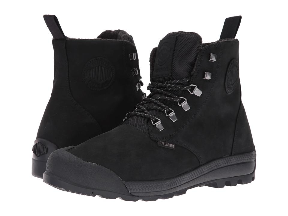 Palladium Pampatech Hi Lea WP (Black/Black) Lace up casual Shoes