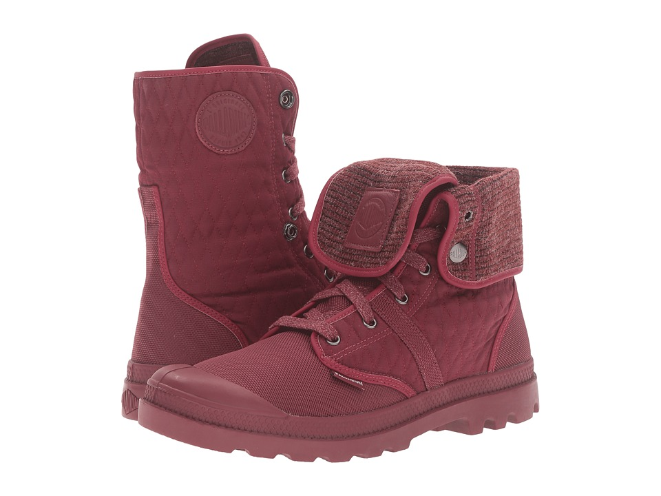 Palladium Pallabrouse Bgy Felt (Cabernet/Vapor) Lace-up Boots