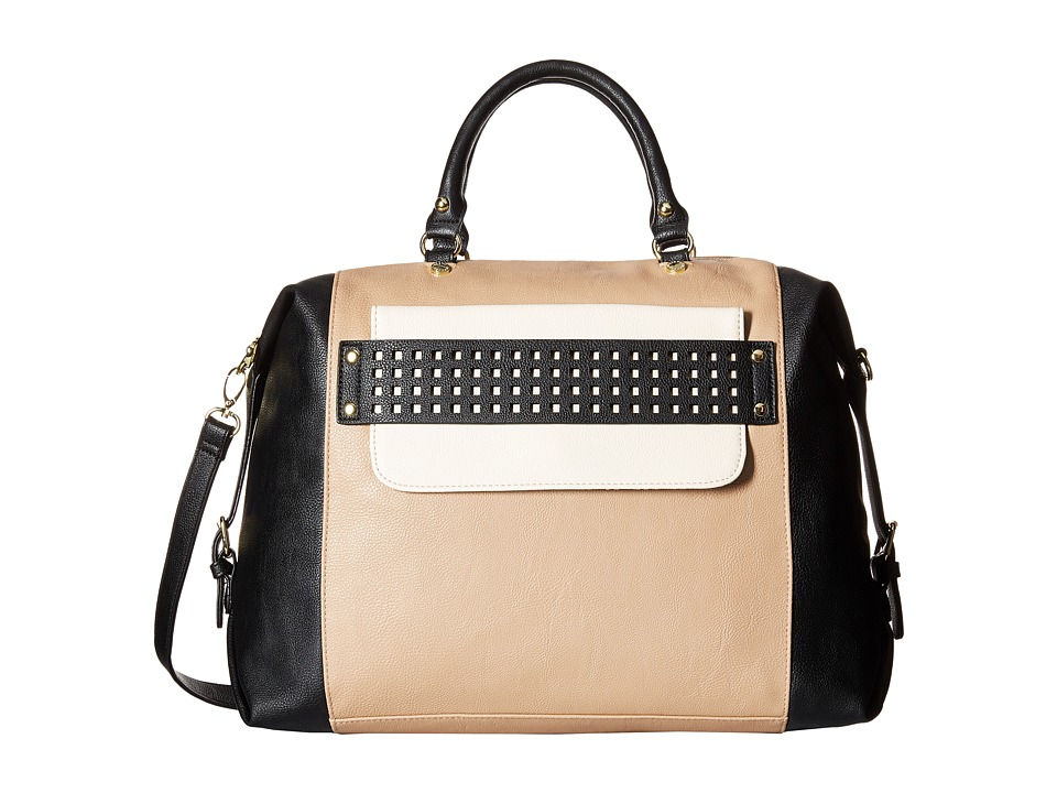 Steve Madden - Blara2 (Black/Taupe/Bone) Satchel Handbags