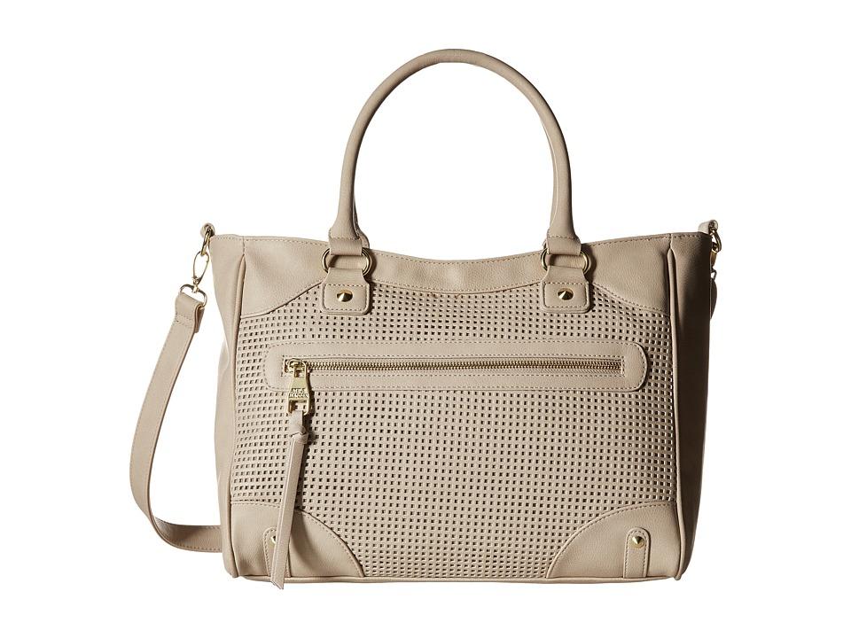 Steve Madden - Borla Perf (Fog) Satchel Handbags