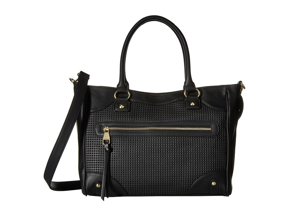 Steve Madden - Borla Perf (Black) Satchel Handbags