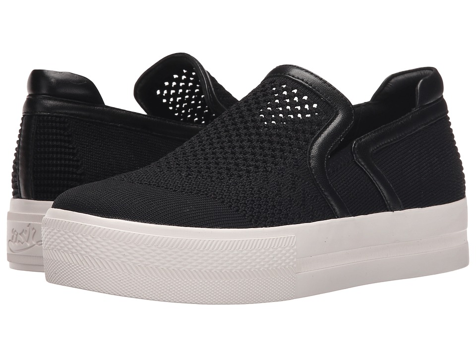 ASH - Jeday (Black Knit/Black Nappa Wax/Black) Women's Slip on Shoes