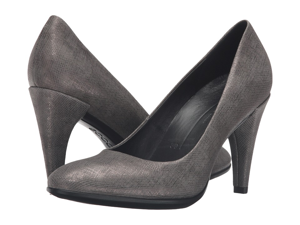 ECCO - Shape 75 Sleek Pump (Warm Grey Calf Leather) High Heels