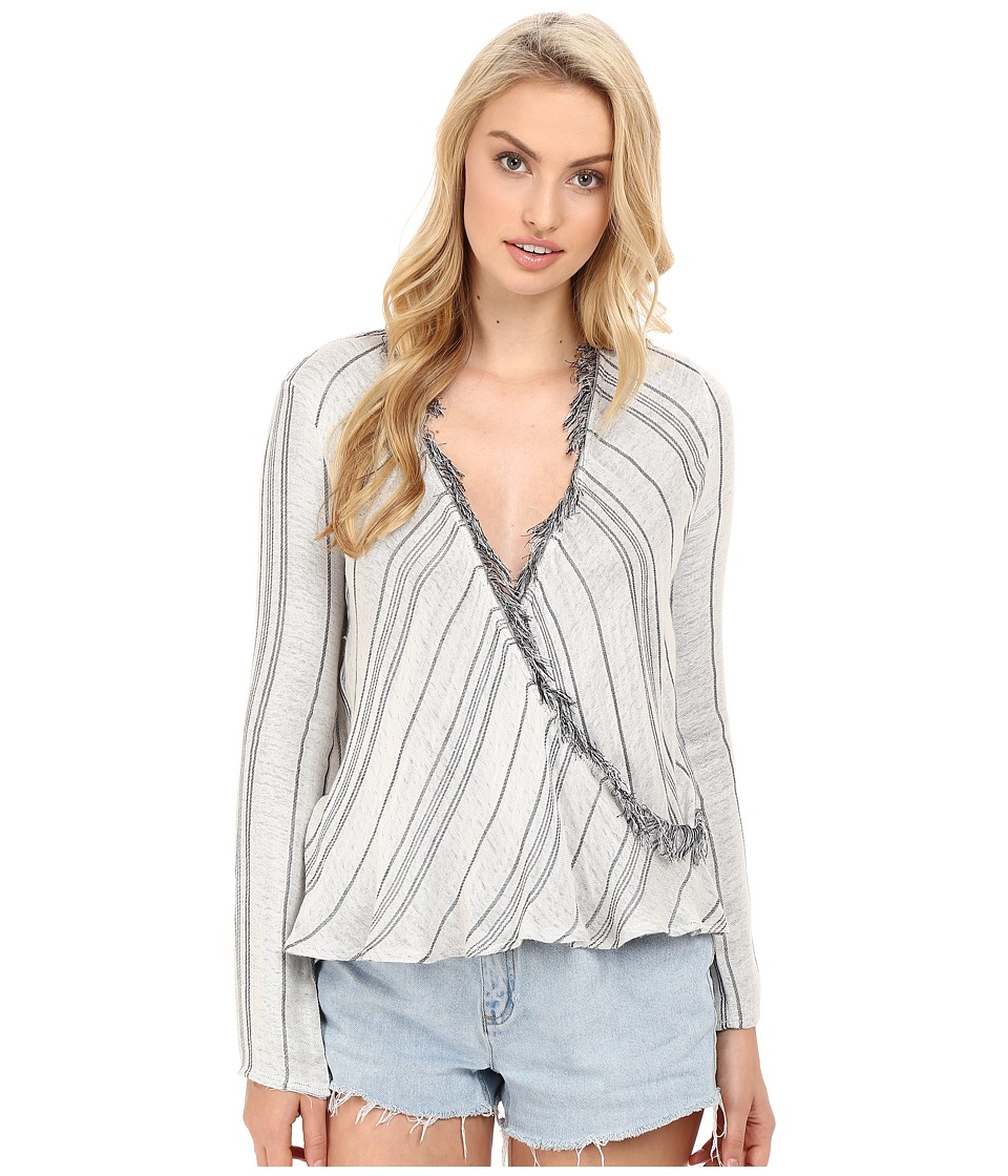 The Jetset Diaries - Las Rayas Wrap Top (Light Stripe) Women's Clothing