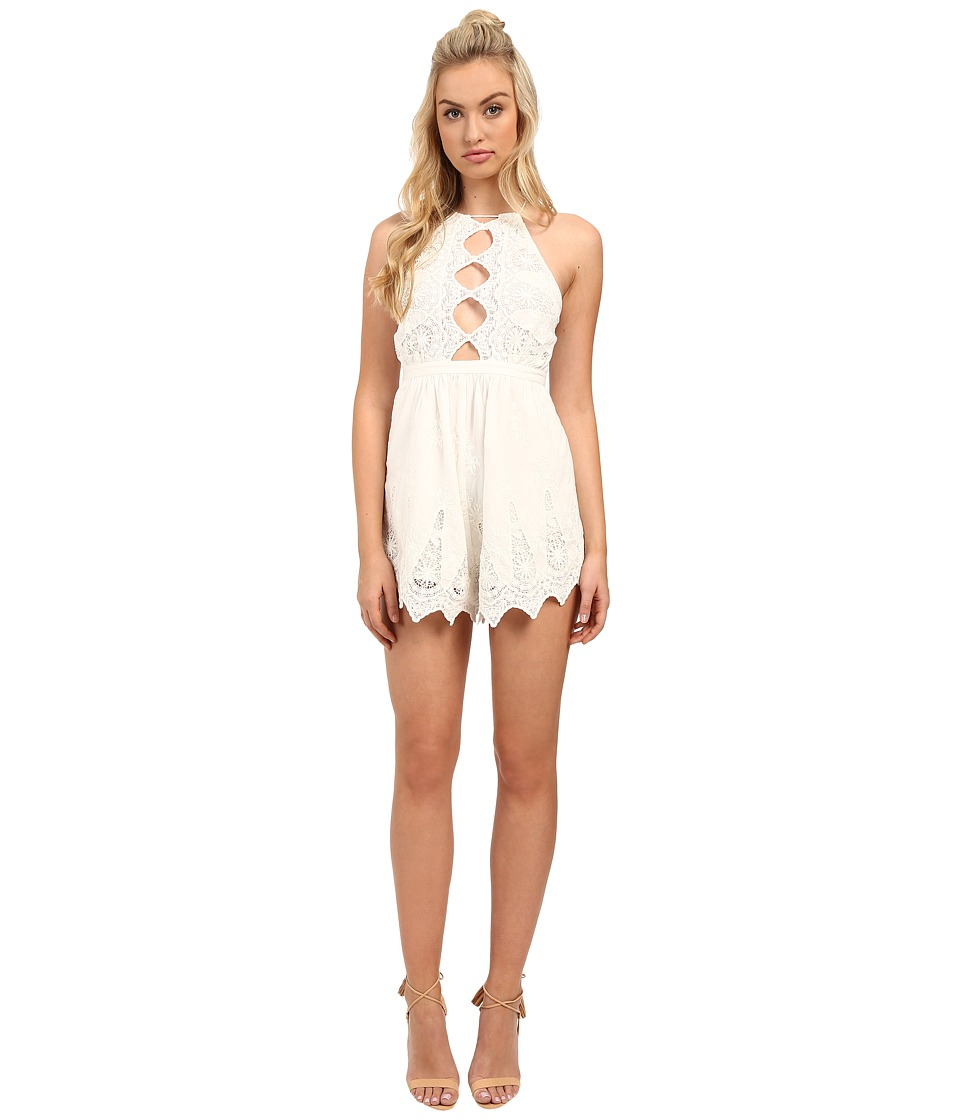 The Jetset Diaries - Mariposa Romper (Ivory) Women's Jumpsuit & Rompers One Piece