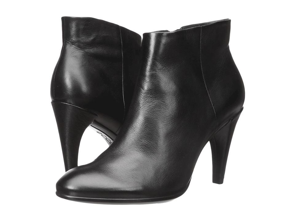 ECCO - Shape 75 Sleek Ankle (Black Calf Leather) High Heels