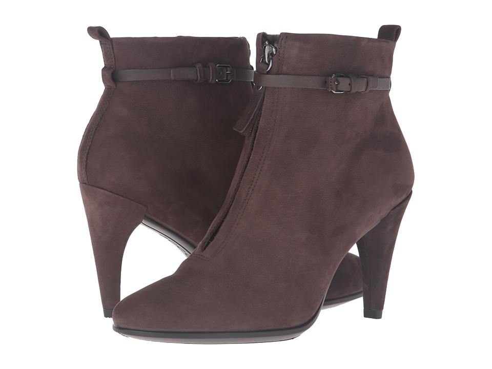 ECCO - Shape 75 Sleek Ankle Boot (Coffee/Coffee Calf Nubuck/Cow Nubuck) Women's Dress Boots