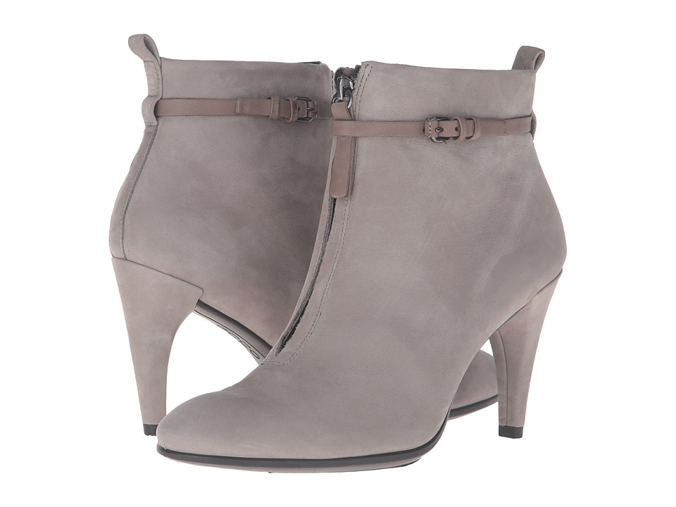 ECCO - Shape 75 Sleek Ankle Boot (Warm Grey/Warm Grey Calf Nubuck/Cow Nubuck) Women's Dress Boots